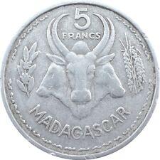 Madagascar French Colony 5 francs 1953 KM#5 Union Française (5629)
