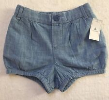 Baby Gap Toddler Girl Cotton Chambray Bubble Shorts 2 Years New With Tags