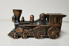 Vintage Bronze Train Engine bank