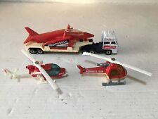 1980s Matchbox Convoy Rebels Aerobatic Team Set Truck Plane Helicopter Red Arrow