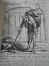 DAUMIER 1867 HD-3233 Elle en a usé du papier la diplomatie faire des cartouches