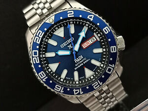 SEIKO DIVER 7S26-0020 SKX007 BLUE AIRDIVERS PROSPEX AUTOMATIC WATCH 783973