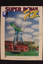 Signed GENE STALLINGS Dallas Cowboys 1978 SUPER BOWL XII Autograph Program 16E