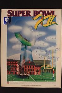 Signed GENE STALLINGS Dallas Cowboys 1978 SUPER BOWL XII Autograph Program 16E