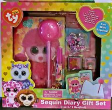 Patsy Ty Beanie Boos Sequin Diary Set w/Pen, Diary, Stickers & more - FREE SHIP