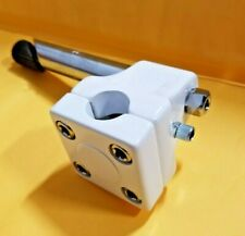"""BMX Quill Stem for threaded 1"""" 21.1mm shaft GT Mallet Style w/ Potts Mod WHITE"""