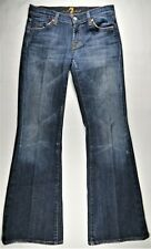 7 for All Mankind Flare Womens Jeans 28x30 Dark Distressed Bootcut Made in USA