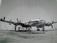 Exploration pétroliere TOTAL années 50-60 photo grand format Avion Air France
