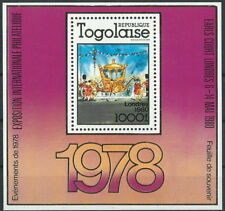 Togo - Int. Briefmarkenausstellung LONDON Block 160 postfrisch 1980 Mi. 1451