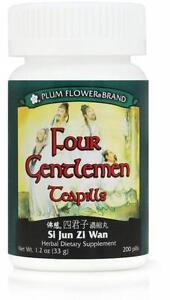 Plum Flower, Four Gentlemen Teapills, Si Jun Zi Tang Wan, 200 ct