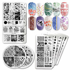 PICT You Nail Stamping Plates Marble Flower Nail Art Stencil Image Templates DIY