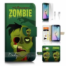( For Samsung S7 Edge ) Wallet Case Cover P2806 Zombie