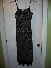 Reflections Images of You Missy Size 8 Black & White Long Dress Spagetti Straps