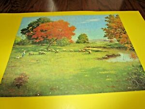 Old Guild No. 123 Green Pastures 304 Pieces Jigsaw Puzzle Complete