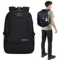 """Waterproof Swiss Travel Backpack Men 16"""" Laptop Multifunction Outdoor School Bag"""