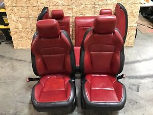 JAGUAR XFR SUPERCHARGED (09-15) RED SEAT SEATS SET FRONT REAR HEATED OEM