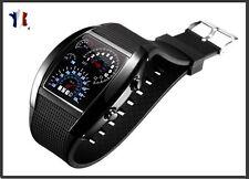 Reloj Digital LED AZUL / salpicadero COCHE/Deporte/ Caja gris antracita