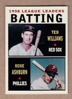 Ted Williams & Richie Ashburn '58 Batting - MC Leaders Series #4 NM cond