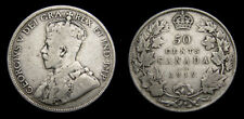 CANADA 1919 Fifty 50 Cent Piece King George V VG-10