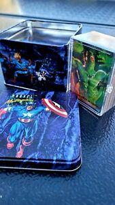 🔥1993 MARVEL MASTERPIECES SERIES 1992 TIN CARD SET FLEER SKYBOX 29718/35000🔥