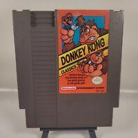 DONKEY KONG CLASSICS  -- NES Nintendo ORIGINAL ARCADE Game *2 GAMES IN 1* CLEAN!