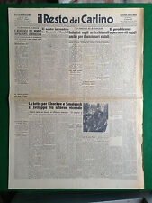 IL RESTO DEL CARLINO 12/8/1943 , RUSSIA LOTTA PER KHARKOV E SMOLENSK