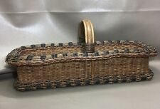 Vintage/Antique Wicker Rattan Bamboo Basket Gathering Shaker Amish
