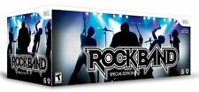 NEW Nintendo Wii Rock Band Special Edition Bundle Kit Drums Guitar Game Mic RARE