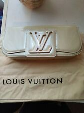 Louis Vuitton Sobe Vernis Corail Blanc Clutch Bag