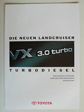 Brochure TOYOTA Land Cruiser 4x4/Special/HT VX 3.0 Turbo Diesel, ca1993, 4 pages