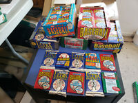 HUGE LOT OF 100-PLUS VINTAGE FLEER BASEBALL CARDS IN 10 SEALED PACKS!!!