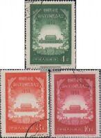 Volksrepublik China 325-327 (kompl.Ausg.) gestempelt 1956 Kommunistische Partei