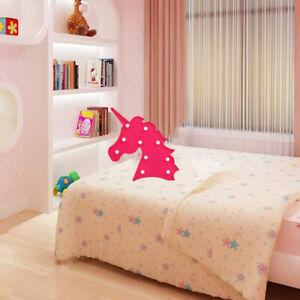 Night Light 3D Animal Unicorn LED lightUp Wall Lamp Baby Kids Bedroom Decor