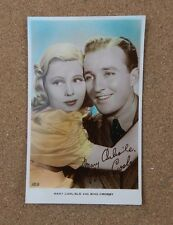 Mary Carlisle & Bing Crosby Art photo  Real Photograph Postcard xc2