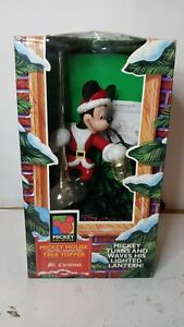Disney Mickey Mouse Lighted Animated Tree Topper 1995 Mr. Christmas Works
