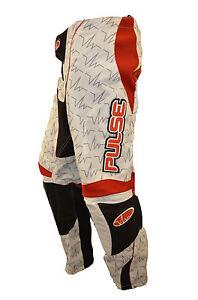 PULSE BEAT MOTOCROSS MX BMX MTB PANTS - RED & WHITE + FREE SOCKS WORTH £9.99