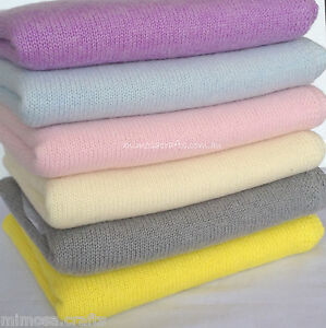Cashmere Baby Blanket - Pashmina Hand Knitted Warm Soft Baby Swaddle Carry Wrap