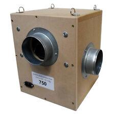 wooden box fan 125mm 750m3