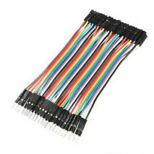 40pcs Dupont 10CM Male To Female Jumper Wire Ribbon Cable Arduino pin header WHY