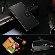 Luxury Genuine Real Leather Flip Wallet Case Stand Cover For LG Optimus G2 D802
