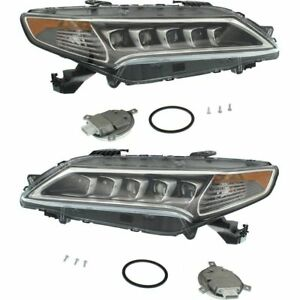 FITS ACURA TLX 2015-2017 LED HEADLIGHTS HEAD LIGHTS FRONT LAMPS W/BULBS PAIR