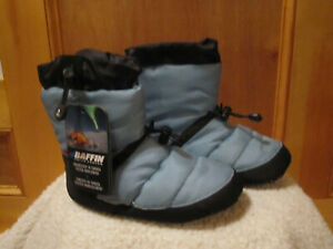 NEW Unisex BAFFIN Base Camp Insulated Booty Slippers Cush Mountaineering BLUE S