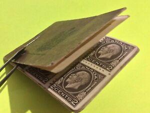 *Rare* Canada # BK21 George V Medallion Booklet (1933) - Est 103,000 printed