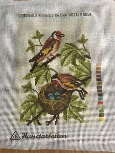 Tapestry Canvas. Birds Nesting.