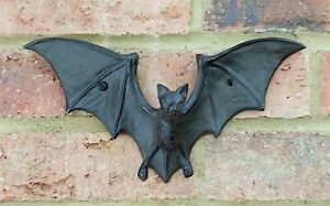 Cast Iron Flying Bat Wall Hook Ideal For Coats Bags Strong Brown 26 cm New