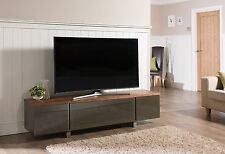Alphason Design First Regent Wood Veneer and Glass TV Stand ADR1800-WAL