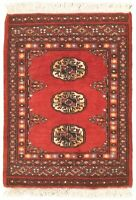 """Hand-knotted Carpet 1'7"""" x 2'2"""" Traditional Vintage Wool Rug...DISCOUNTED!"""