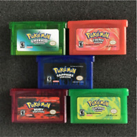 5PCS GAME CARDS Sapphire/Emerald/Fire Red/Leaf Green/Ruby For GBM/GBA/SP/NDS
