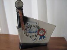 VINTAGE JIM BEAM LIQUOR DECANTER BOTTLE KEWANEE ILLINOIS ANTIQUE TRADER