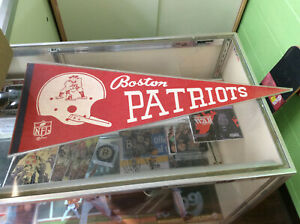 Vintage 1967 Boston Patriots Team Logo NFL Full Size Felt Pennant Great Shape